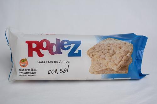 Galletas De Arroz Yamani  Rodez  Con Sal Caja X24 Unid.