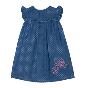 Vestido Bebe Niña Tipo Mezclilla Libelulas