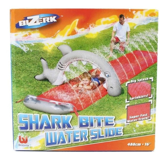 Deslizador De Agua Tobogan Inflable Shark Bite Bestway