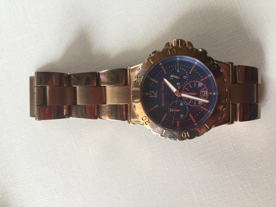 Relógio Original Michael Kors Rose E Azul Marinho