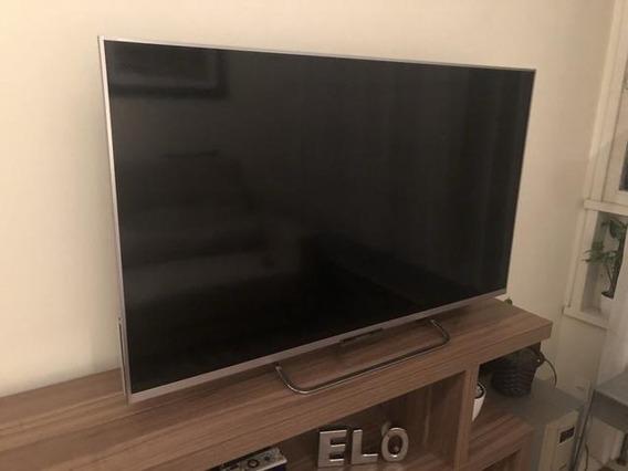 Smart Tv Sony Bravia Modelo 50w655a Com Tela Quebrada