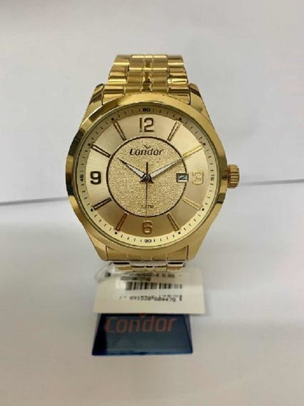 Relógio Condor Masculino Dourado Co2315ahtdy/4x