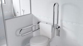 Barra De Apoio Articulável Em Aço Inox P/ Banheiro De 70cm