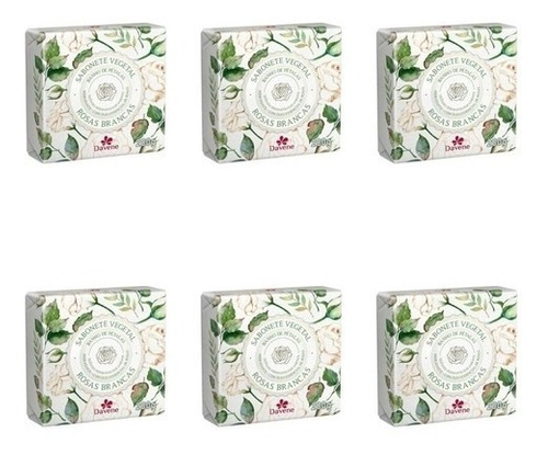 Imagem 1 de 1 de Sabonete Davene 200 Gr Rosas Brancas  (06/un)