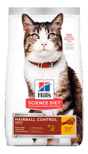 Alimento Hills Hairball Control Adulto Gato 3.2kg