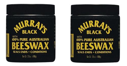 2 Murrays Black Beeswax Cera Para Cabello 4oz