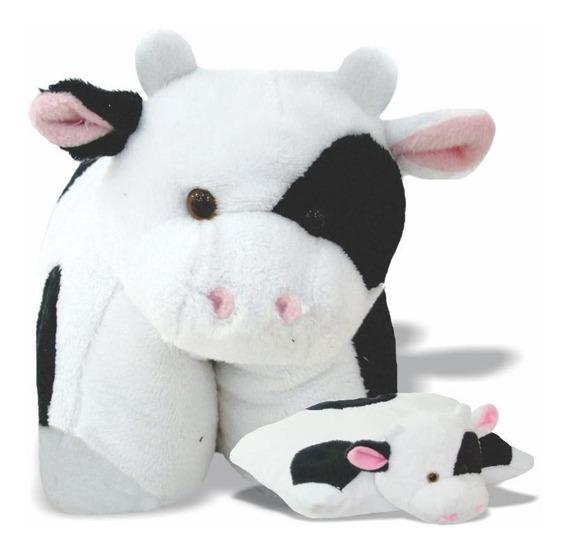 Pelúcia Bichinho Travesseiro - Vaca - Vaquinha Soft Toys