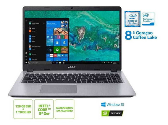 Notebook Acer A515-52g-79h1 I7 8565u 8gb 128 Ssd 1tb Hd15.6