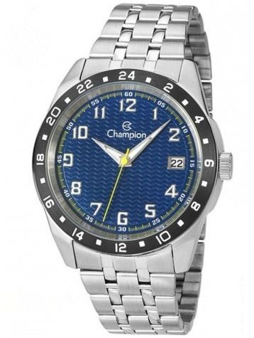 Relógios Masculino Champion Ca31382f Fundo Azul C Calendario