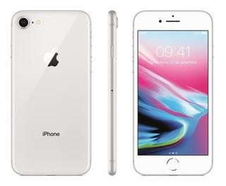 iPhone 8 Prata, Com Tela De 4,7, 4g, 64 Gb E Câmera De 12mp