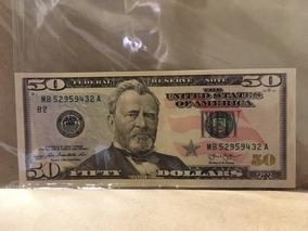 Cédula Nota 50 Dólares Americanos - Dollar Coleção