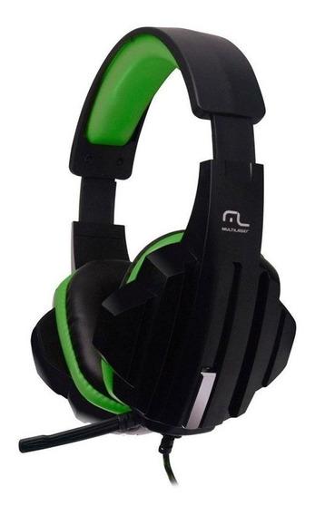Headset Gamer Multilaser Ph123 - Preto/verde