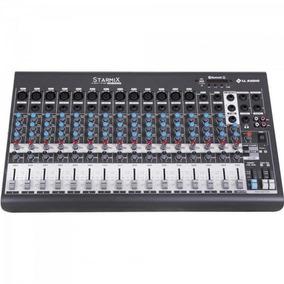 Mesa De Som 16 Canais Stereo Starmix Xms1602r Cinza Ll Audio