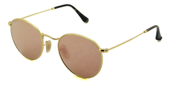 Óculos Ray Ban Rb3447-nl 001/z2 50 Round Metal - Lente 50mm