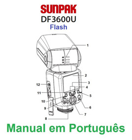 Manual Em Português Do Flash Sunpak Df3600u