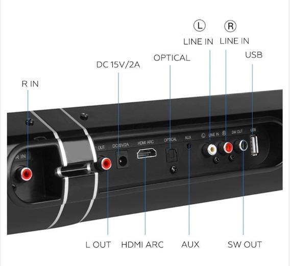 Caixa De Som Sound Bar 50w 2.1 Bluetooth Som Nítido