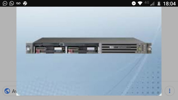 Servidor Hp Proliant Dl360 G4 - 4gb Ram - 36gb Hd Scsi
