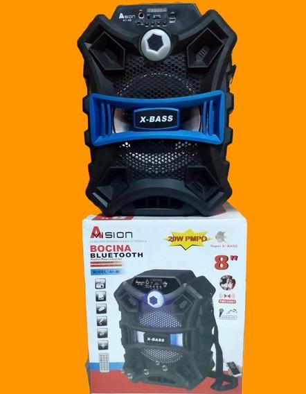 Caixa De Som Amplificada Portátil Bluetooth A1-41