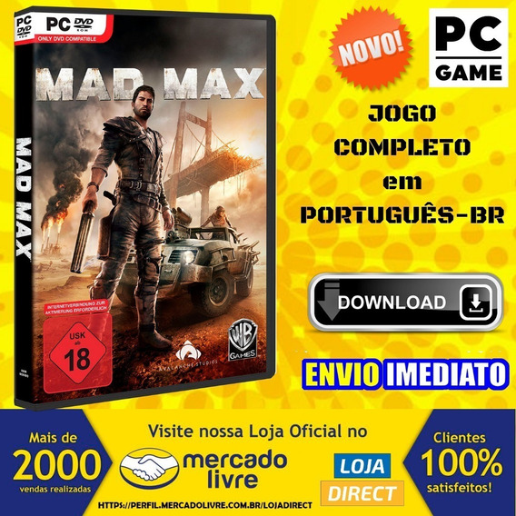 Mad Max Pc - Game - Português-br - Envio Digital