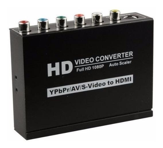 Conversor Ypbpr Video Componente Rca Av S-video Para Hdmi