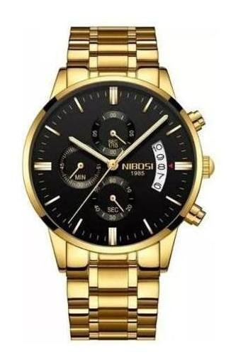 Relógio Masculino Nibosi Blindado Antirisco Friday Black