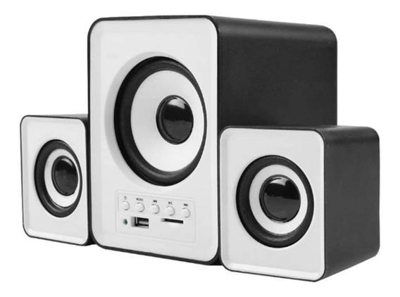 Caixa De Som Sub Woofer 2.1 P2 Bluetooth Usb Sd Pc Tv + Cabo