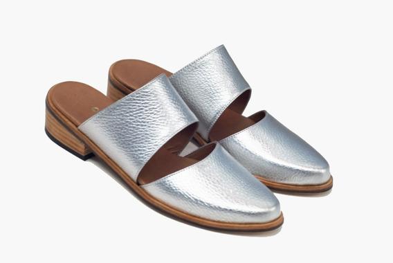 Zapatos Zuecos Slippers Loafers Cuero Zapatos Bajos Abiertos