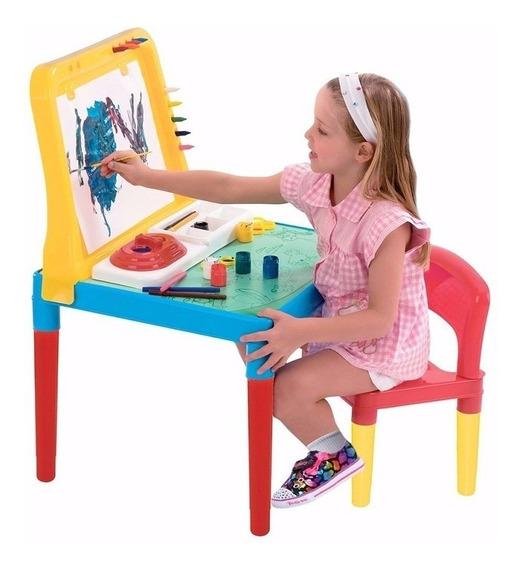 Mesa Mesinha De Pintar Desenhar Pequeno Artista Bell Toy