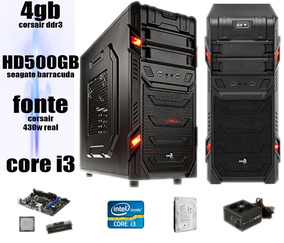 Computador Pc Gamer I3 3.06 4gb Corsair Hd500 Radeon Hd6570