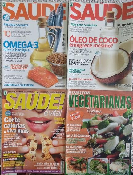 Lote Revistas Saúde/receitas Vegetarianas - 5 Edições