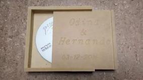 Caja Para Cd Dvd Recuerdo Bodas Cumpleaños En Mdf Crudo