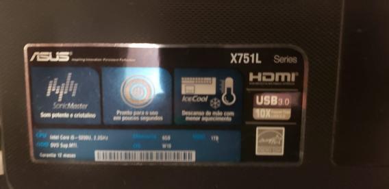 Notebook Gamer Asus X751l - 6gb Ram Geforce 920mb Ssd 128gb