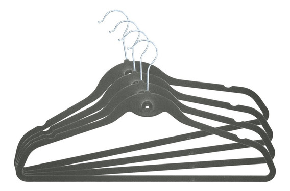 Perchas Terciopelo Antideslizante X80 Gris Begônia