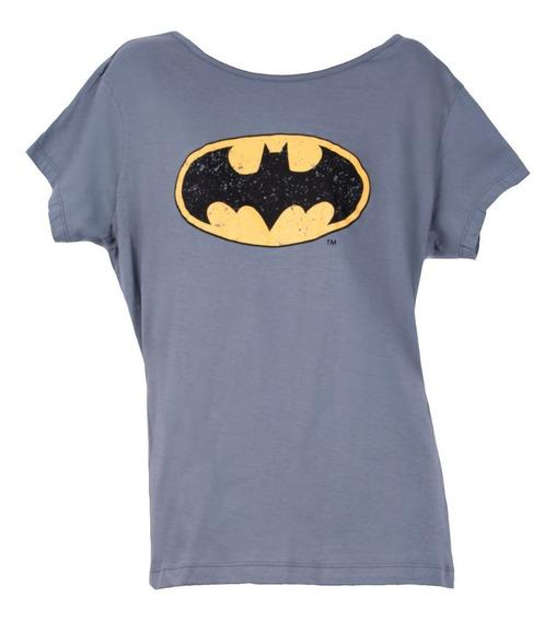 Remera, Dc, Batman Logo 1998 Gris Dama Accoriginals