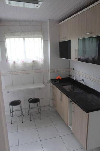 Imagem 1 de 16 de Apartamento Com 2 Dormitórios À Venda, 48 M² Por R$ 266.000,00 - Parque Pinheiros - Taboão Da Serra/sp - Ap0513
