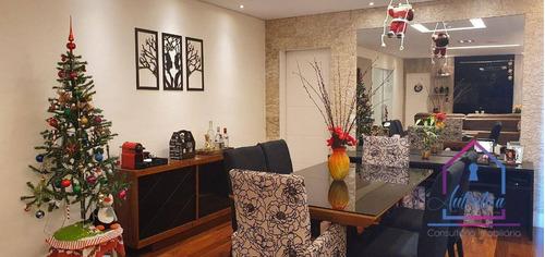Imagem 1 de 30 de Apartamento Com 2 Suítes E 1 Dormitório À Venda, 109 M² Por R$ 816.000 - Mairarê Reserva Raposo - /sp - Ap0546