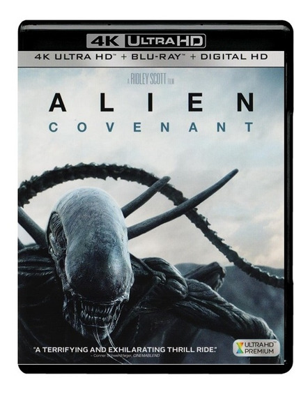 Alien Covenant Pelicula 4k Ultra Hd + Blu-ray + Digital Hd