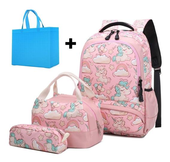 Mochilas Escolares Unicornio Niñas Moderna Rosa Oferta