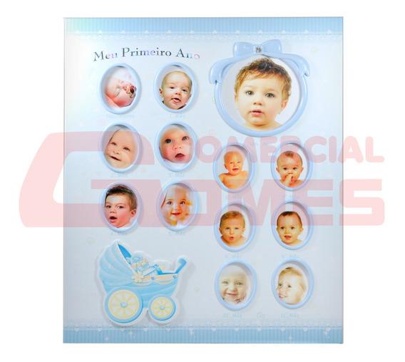 Album Baby Azul Primeiro Ano Para 100 Fotos 15x21 C-68100-12