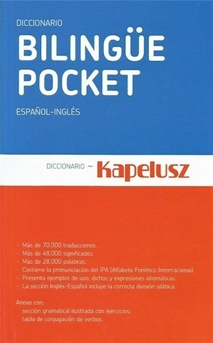 Diccionario Bilingue Pocket Español/ Ingles - Kapelusz