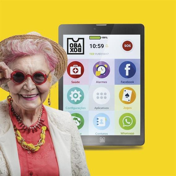 Tablet Smartphone E Celular Para Idosos Obatablet Obabox