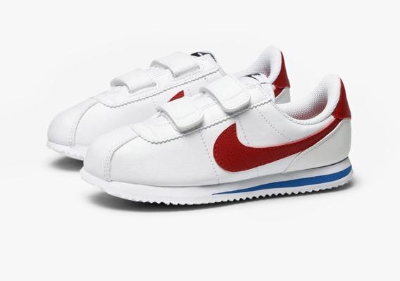 Tenis Nike Niños Cortez Clasico Retro Piel Genuina Pegol Ori