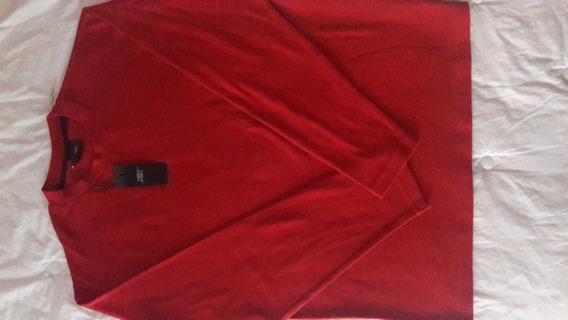 Sweater New Man De Hilo Talle L Color Bordo, Espectacular!!
