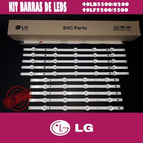 Kit Barras De Leds Tv Lg 49lb6200 49lb5500 49lf5500 49lf5200