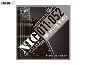 12 Jogos Encord. Nig N61 011-052 Níquel Guitarra + Mi Brinde