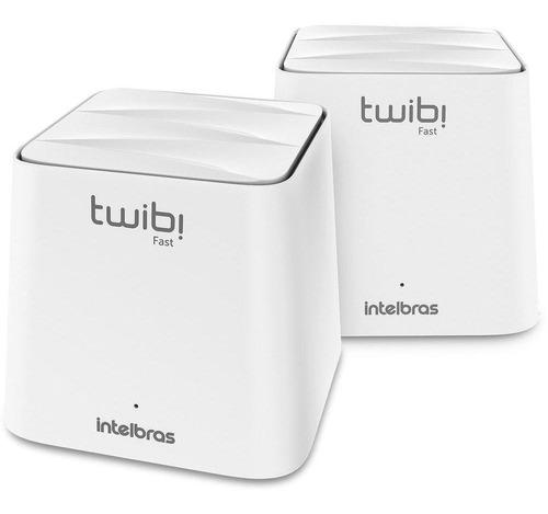 Imagem 1 de 6 de Kit 2 Un Roteador Intelbras Twibi Fast Mesh Ac1200 Branco