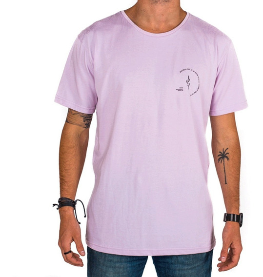 Remera Hombre Simple Basica Estampada Lavanda - Underwave