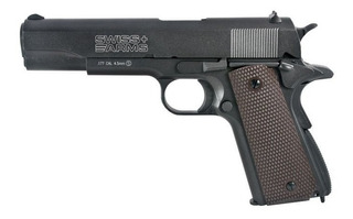 Pistola Swiss Arms Colt 1911 Full Metal + 5 Co2 +500 Balines