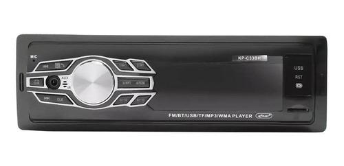 Som automotivo Knup KP-C33BH com USB, bluetooth e leitor de cartão SD