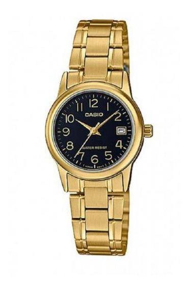 Relógio Feminino Casio Analógico Ltp-v002g-1budf-br Dourado